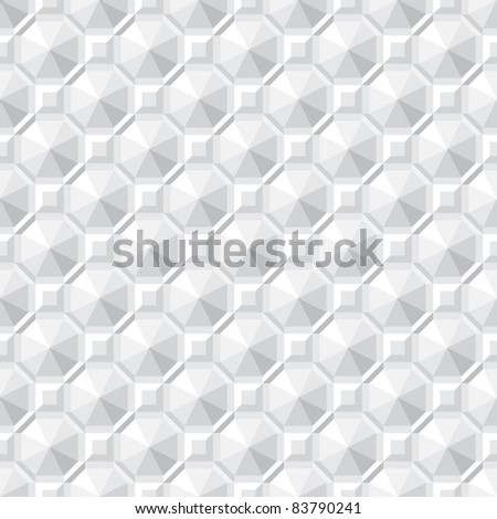 Monochrome seamless texture - square abstract pattern