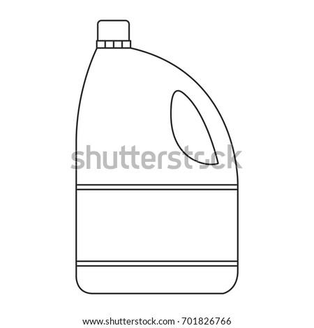 monochrome silhouette of bleach