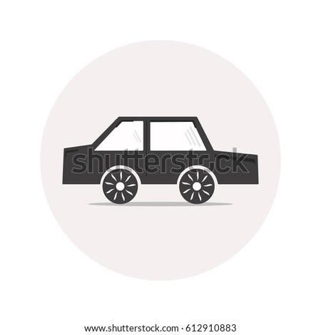 monochrome simple car icon for