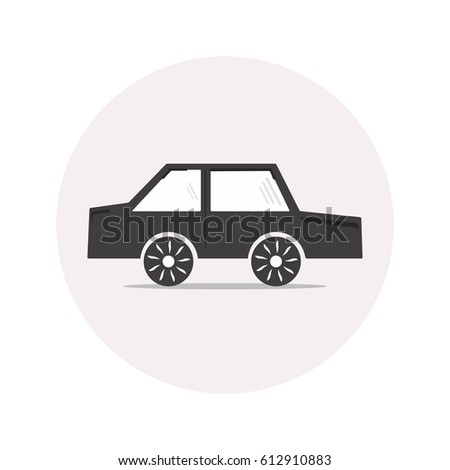 monochrome simple car icon for