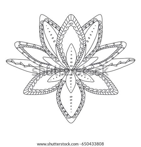 monochrome stylized ornamental
