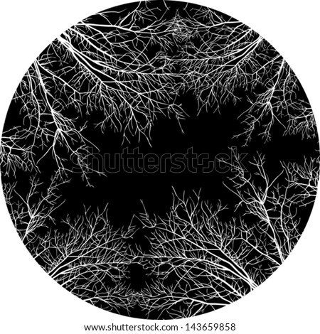 monochrome stylized tree