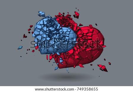 Broken Heart Download Gratis Vectorkunst En Andere Vectorafbeeldingen