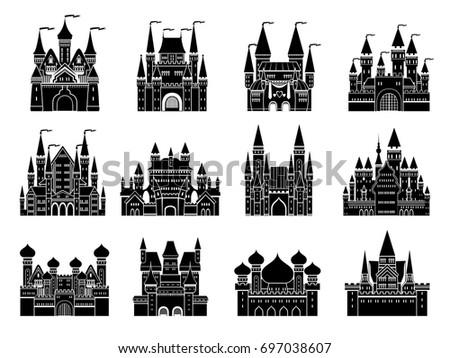 monochrome vector illustrations