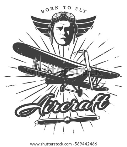 monochrome vintage aircraft