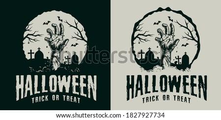 monochrome vintage halloween