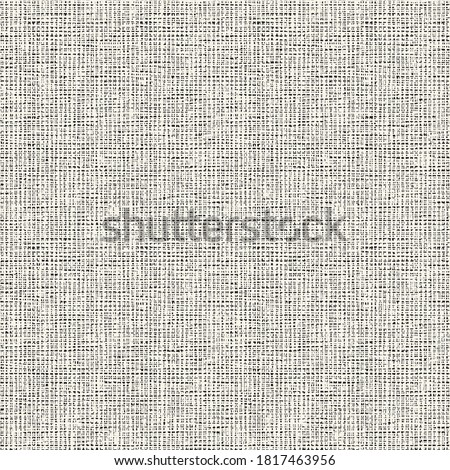 Monochrome Washed Effect Textured Canvas Background. Seamless Pattern. Stockfoto ©