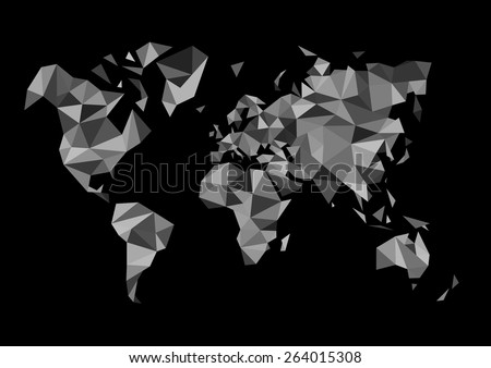 Free Watercolor World Map Vector Download Free Vector Art Stock - Black white world map