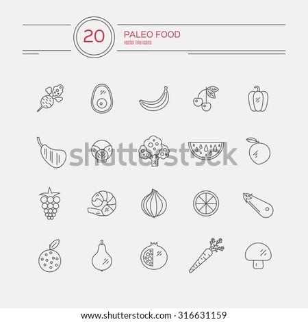 monocolor paleo food linear