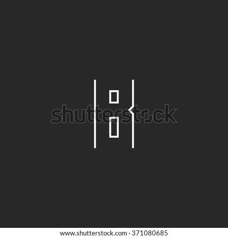 monogram b letter logo  modern
