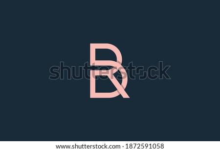 monogram connected alphabet