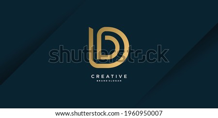 Monogram D logo with creative unique concept for business, company or person part 3 Photo stock ©