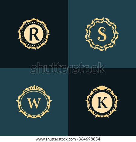 monogram design elements