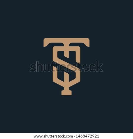 Monogram Initial Negative Space H + Letter S + Letter W Hipster Lettermark Logo For Branding or T shirt Design Stok fotoğraf ©