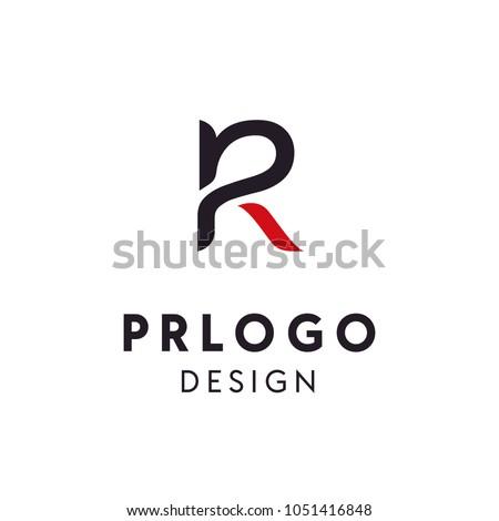 Monogram / Initial PR logo design inspiration