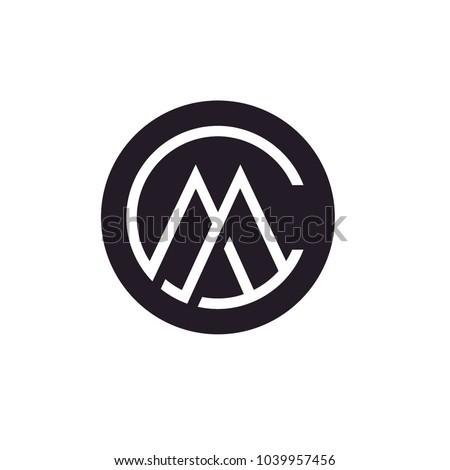 Monogram / Initials CM or MC logo design inspiration