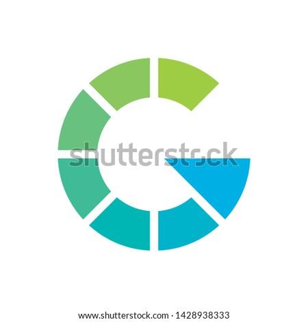 Monogram Letter G Circle Business Company Stock Vector Logo Design
