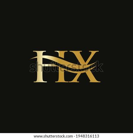 Monogram letter HX logo design Vector. HX letter logo design with modern trendy Stock photo ©