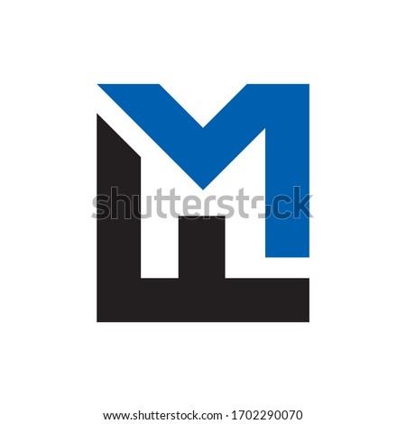 Monogram Letter M & F Business Company Vector Logo Design Stock fotó ©