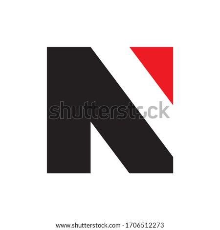 Monogram Letter N Business Company Vector Logo Design Foto stock ©