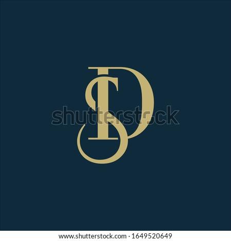 Monogram letters S an D logo. Zdjęcia stock ©