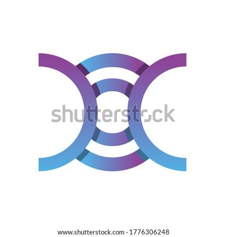monogram logo design letter DOC Zdjęcia stock ©