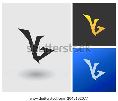 Monogram modern logo vector letter YG or IG. Zdjęcia stock ©