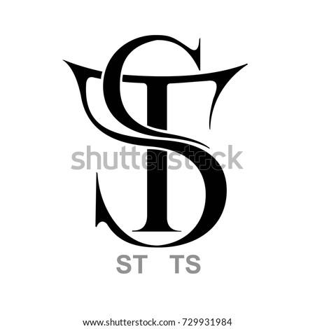 Monogram S&T, T&S Stock fotó ©