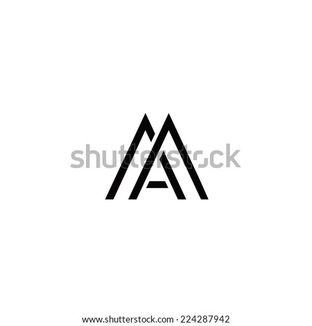 Monogram with letter M and letter A