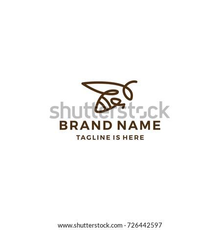 monoline bumble bee logo line