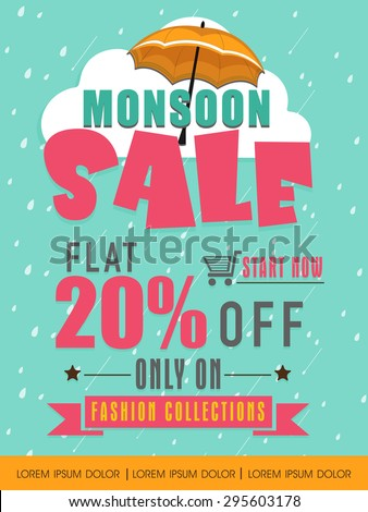 monsoon sale with flat 20