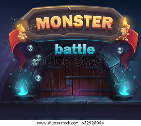 monster battle gui boot window