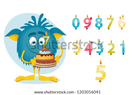 monster cartoon  birthday  7