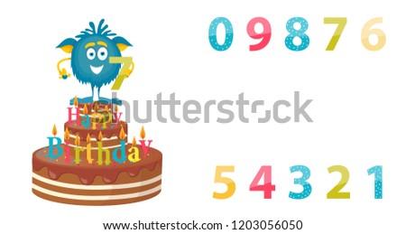 monster cartoon  birthday  7