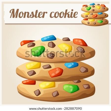 monster cookies detailed