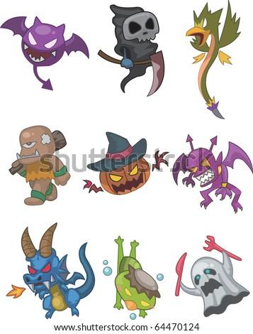 monster doodle - stock vector