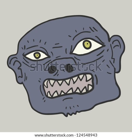Monster face Stock photo ©
