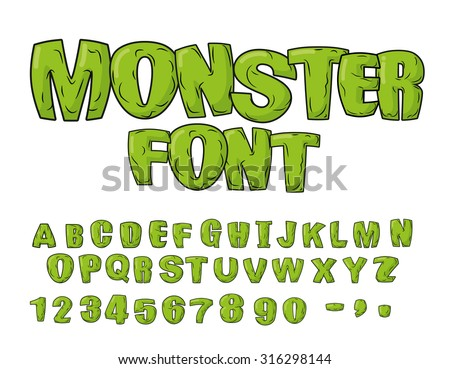 monster font green scary