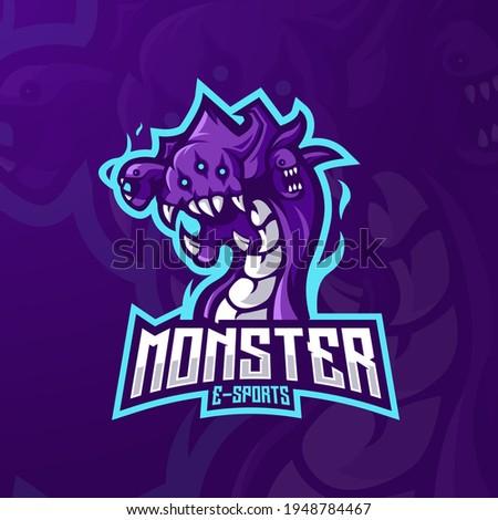 monster mascot logo design