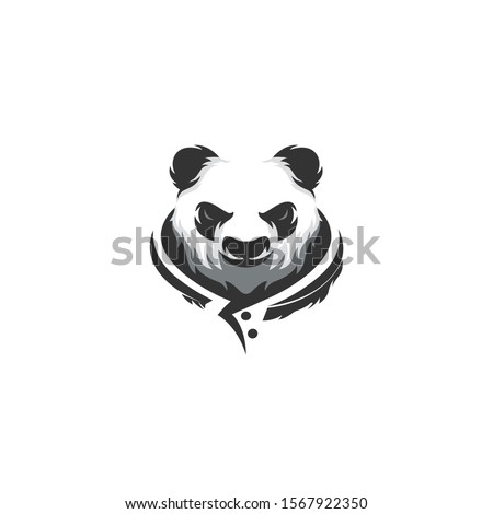 Monster of Panda with tribal style