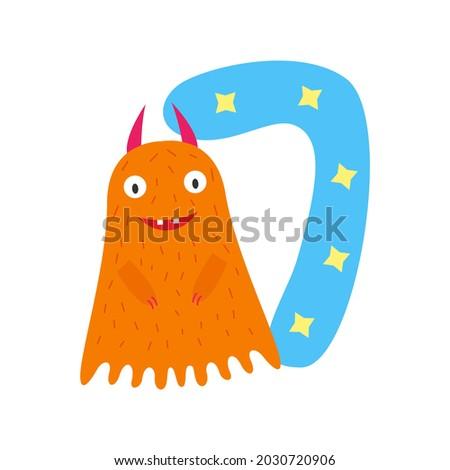 monster orange cute funny kind