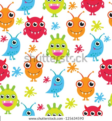 monster pattern design vector