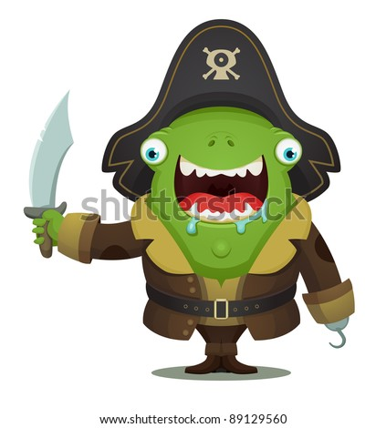 Monster Pirate - stock vector