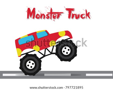 monster truck cartoon funny