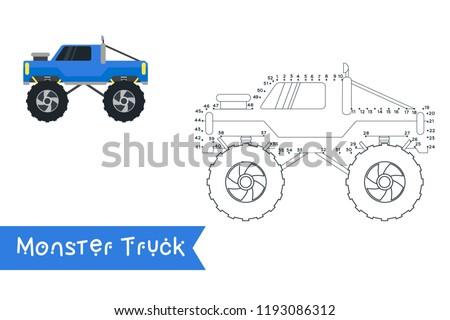 monster truck kids style