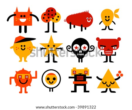 monsters collection vector