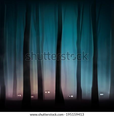 monsters in dark forest  eps 10