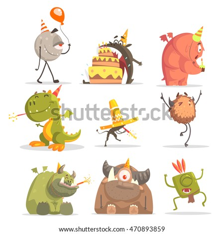 monsters on birthday party in