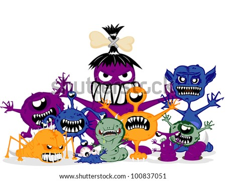 monsters. Vector illustration