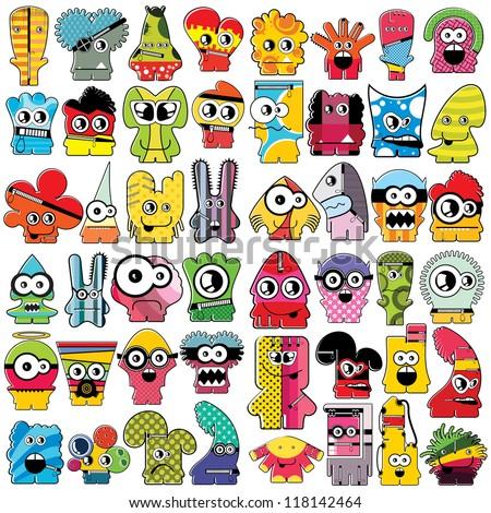 Monsters - vector set